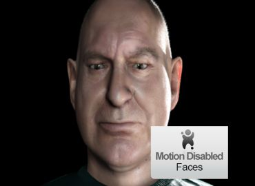 Motion Disabled Faces